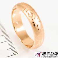 Кольцо лимонное золото Обручальное 0,6 объемное (с напылением)