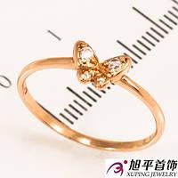 Кольцо позолоченное ''Маленькая бабочка''