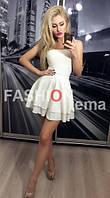 Женская юбка-мини, белая