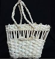 Корзинка большая из кукурузной соломы (19х7х14 см) (40/30) (цена за 1 шт. + 10 гр.)