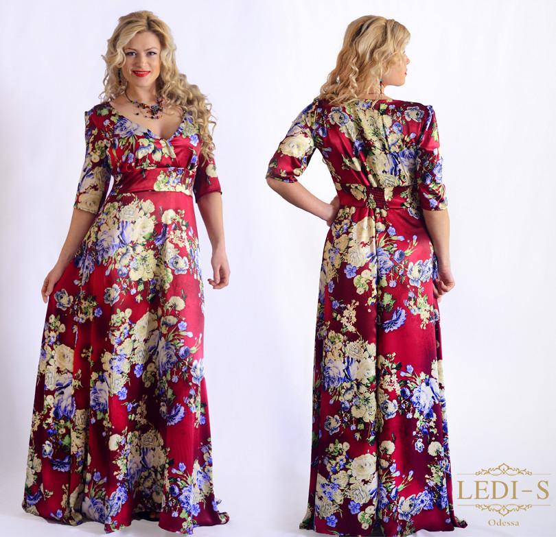 Женское платье в пол (50-60)8033