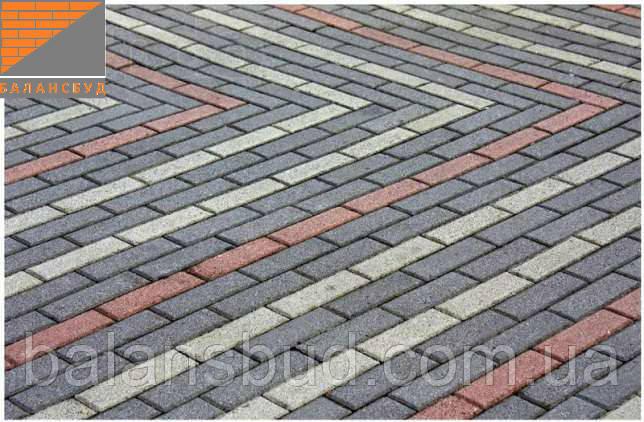 Тротуарная плитка - Кирпич 40мм