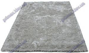 Ворсистый ковер Карлтон shaggy, однотонный  с переливами, серый