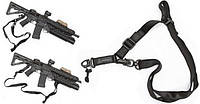 Ремень оружейный в стиле MAGPUL MS2 черный, для страйкбола