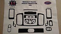Декоративные накладки салона renault traffic (Трафик) 17 элементов