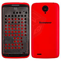 Корпус для Lenovo S820, красный, оригинал