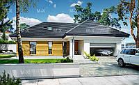 MS127. Современный одноэтажный дом со встроенным гаражом, фото 1