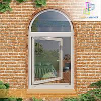 Металлопластиковые арочные окна Вишневое