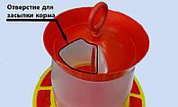Кормушка-бункер пластмассовая на 4 кг, фото 1