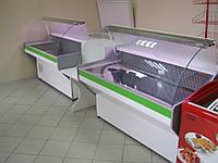 Витрина холодильная с гнутым стеклом