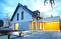 MS131. Проект современного дома с мансардным этажом под двускатной кровлей, фото 1