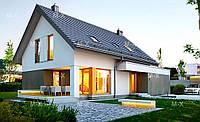 MS132. Классический дом с мансардным этажом, встроенным гаражом и террасой, фото 1