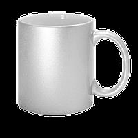 Чашка для сублимации Silver (серебрянный  цвет)