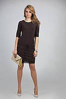 Эффектное платье-туника из мягкой и приятной на ощупь поливискозы