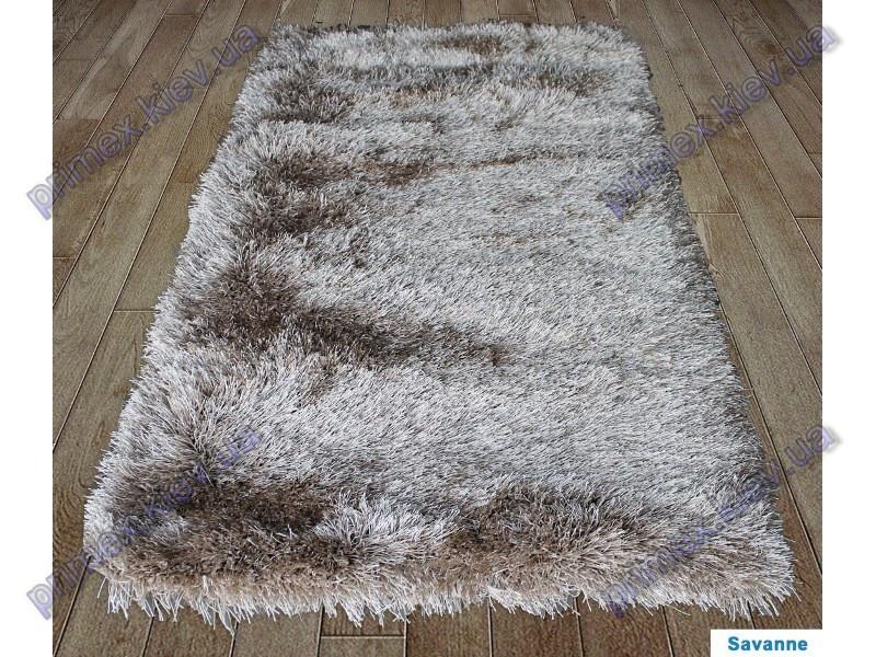 Ворсистий килим Атлантіс shaggy, однотонний з переливами, коричневий (amandel (almond))