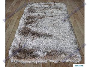 Ворсистый ковер Атлантис shaggy, однотонный  с переливами, коричневый (amandel (almond))
