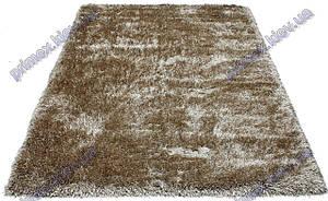 Ворсистый ковер Атлантис shaggy, однотонный  с переливами, бежевый (savanne)