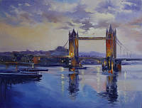«Виды Лондона. Тауэрский мост» картина маслом