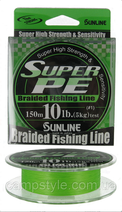 Шнур SunLine Super PE  6 LB/2,72 кг/0,128 мм/ #0.6 салатовый