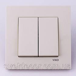 Выключатель двухклавишный VIKO Karre скрытой установки
