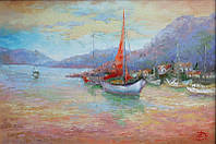 «Средиземноморье. Закат» картина маслом