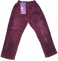 Вельветовые брюки на флисе для девочки размер: 98