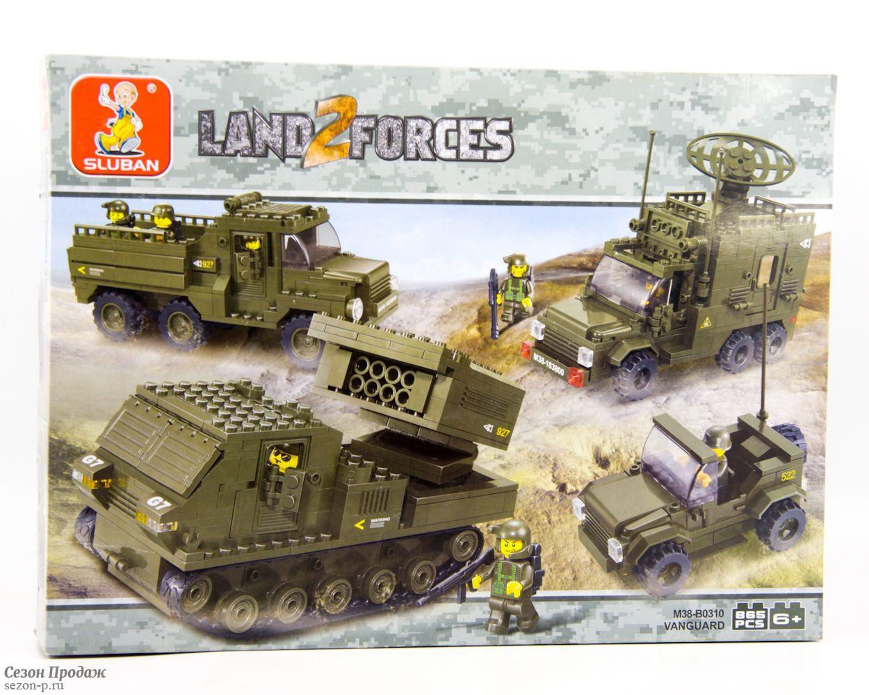 """Конструктор SLUBAN """"Сухопутные войска 2: Наступление"""" 865 деталей арт.M38-B0310"""