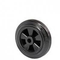 Колеса и ролики для тележек без кронштейна из стандартной черной резины с полипропиленовым центром (серия 32)