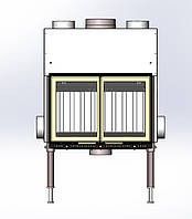 Камин AIR 740 двухстворчатая дверка 16 кВт