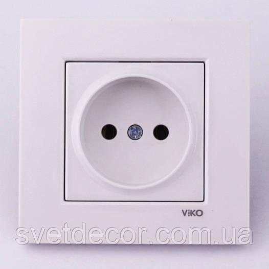 Розетка электрическая VIKO Karre скрытой установки одинарная без заземления