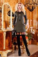 платье-туника женское с эко-кожей(42-46р) ,доставка по Украине