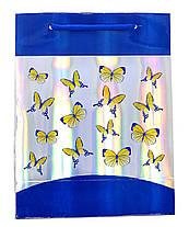 """Пакет подарочный """"Бабочки"""" 22х17х8, фото 2"""