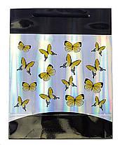 """Пакет подарочный """"Бабочки"""" 22х17х8, фото 3"""