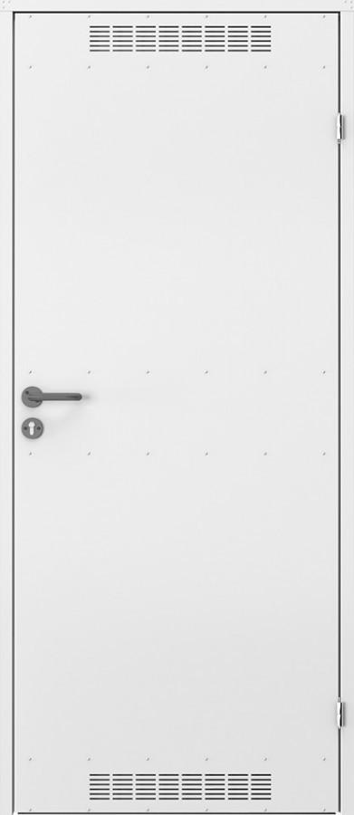 Двери оцынкованные технические с вентиляцией Porta
