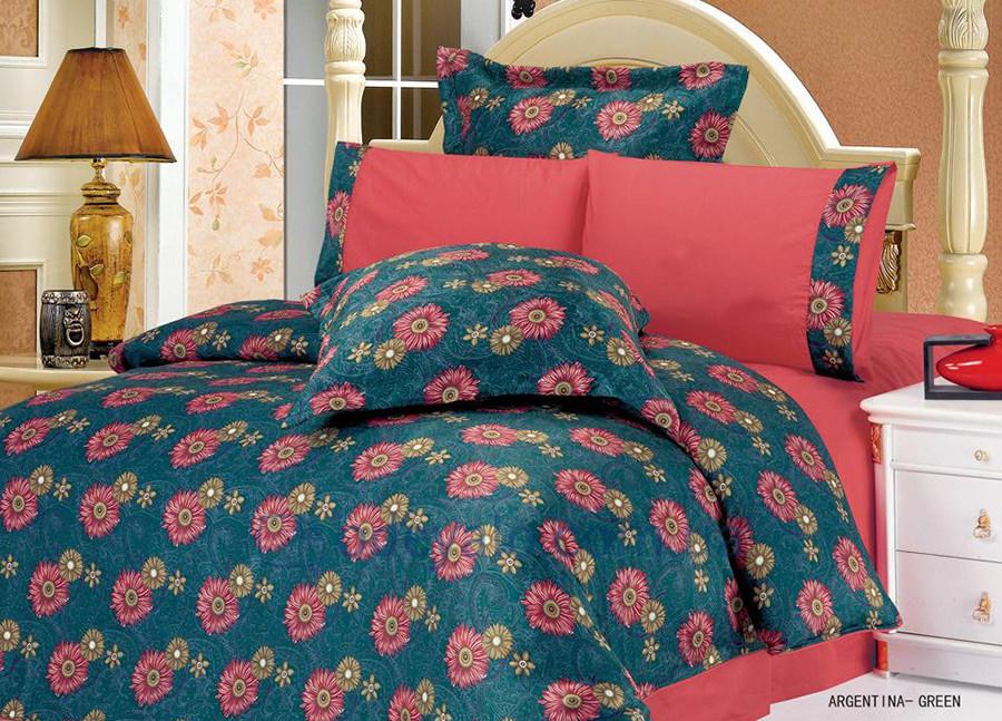 Комплект постельного белья жатка Le Vele Argentina green - Интернет магазин Постелюшка (Домашний текстиль, сумки, товары для дома и отдыха) в Харькове