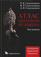 Атлас анатомии человека. В 4 томах. Том 1. Учение о костях, соединении костей и мышцах.  Синельников Р.Д.