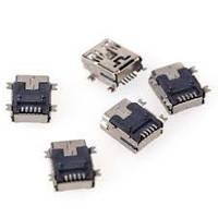Гнездо mini USB 5pin монтажное, SMT тип