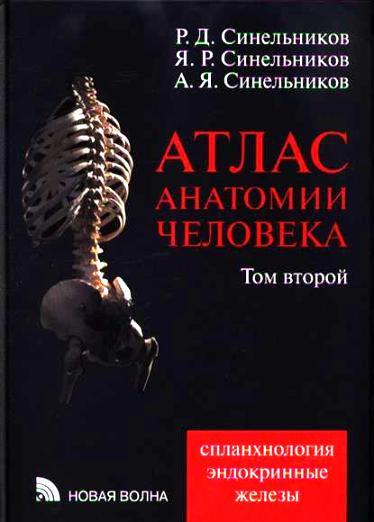Атлас анатомии человека. В 4 томах. Том 2. Учение о внутренностях и эндокринных железах. Синельников Р.Д.