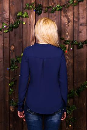 Блузка 206 синяя размер 48, фото 2