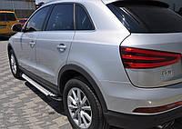 Audi Q3 2011+ гг. Боковые площадки Allmond (2 шт., алюминий)