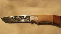 Нож нескладной Сокол с гравировкой, фото 1