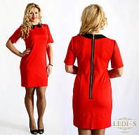 Платье женское с кружевной змейкой на спине