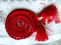 Пояс косичка красный