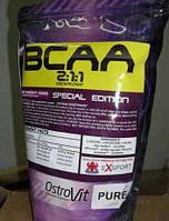 OstroVit Extra Pure BCAA 2:1:1, 1000 грамм (без вкуса)