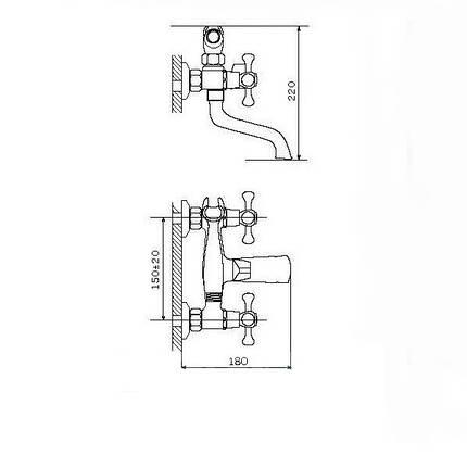 Смеситель для ванны Zegor T65-DAK-A827, фото 2