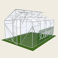 Двускатная теплица Митлайдера 3х4м Solidprof, толщина поликарбоната 4мм