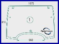 Стекло LINDNER Geotrac 63 73 83 93 103 104 114 124 переднее