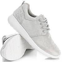 Спортивная женская обувь, кроссовки серебро