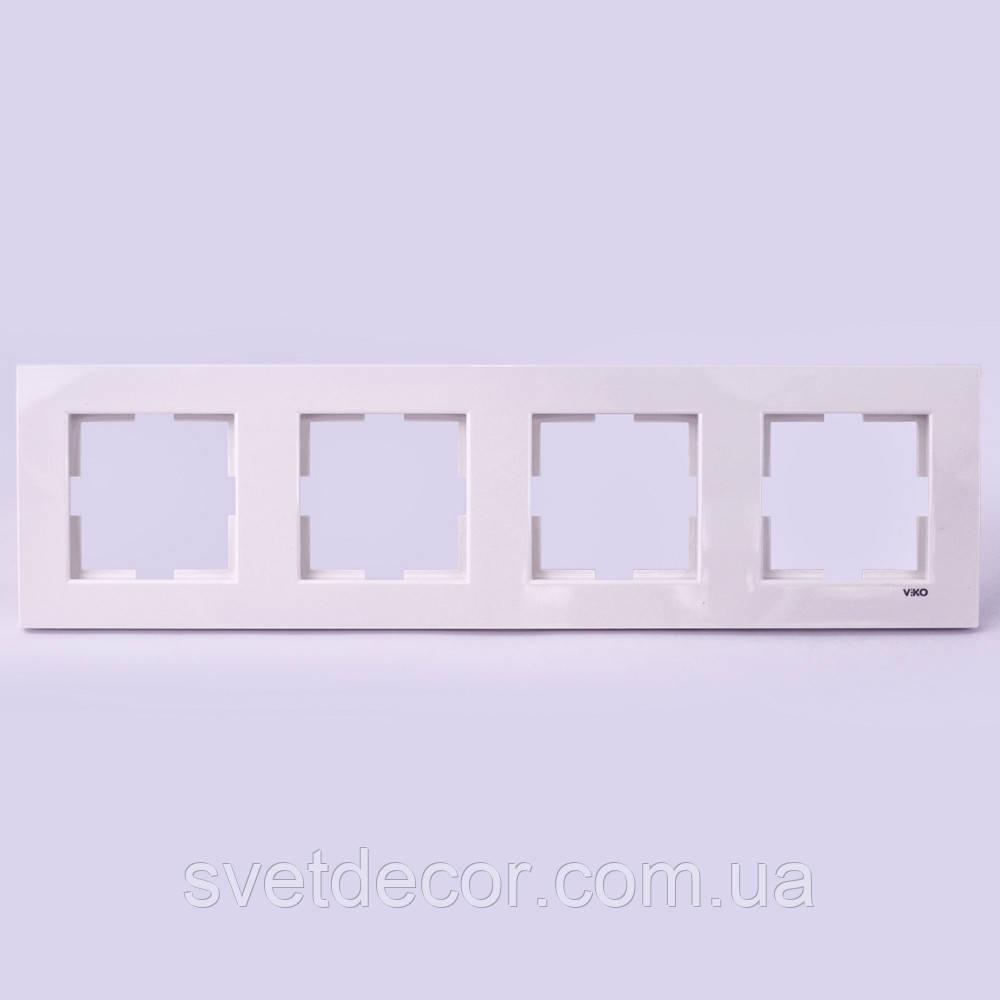 Четверная рамка VIKO Karre горизонтальная, вертикальная скрытой установки