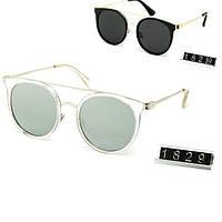 Модные женские солнцезащитные очки круглые